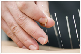 Physical Therapist Performing Dry Healing